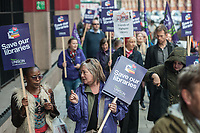Protest organised by UNISON against cuts to Library services in London 3-11-18