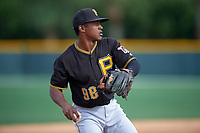 Pittsburgh Pirates Raul Siri (98) during a minor league Spring Training intrasquad game on April 3, 2016 at Pirate City in Bradenton, Florida.  (Mike Janes/Four Seam Images)