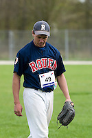18 April 2006: Philippe Lecourieux is seen during the third of seven 2006 MLB European Academy Try-out Sessions throughout Europe, at Stade Pershing, INSEP, near Paris, France. Try-out sessions are run by members of the Major League Baseball Scouting Bureau with assistance from MLBI staff.