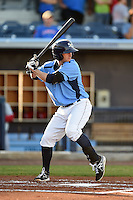 Charlotte Stone Crabs outfielder Marty Gantt (7) during a game against the Palm Beach Cardinals on April 12, 2014 at Charlotte Sports Park in Port Charlotte, Florida.  Palm Beach defeated Charlotte 6-2.  (Mike Janes/Four Seam Images)