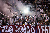 10 September 2005: CD Chivas USA fans celebrate after throwing some smoke bombs and flares in their stands during the second half of the game against San Jose Earthquakes at Spartan Stadium in San Jose, California.    San Jose Earthquakes defeated CD Chivas USA, 3-0.