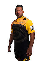 Motu Matu'u. Hurricanes Super Rugby official headshots at Rugby League Park, Wellington, New Zealand on Wednesday, 6 January 2016. Photo: Dave Lintott / lintottphoto.co.nz
