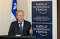 Participation de M. Jean Charest PM du Quebec au sommet sur la mobilite de la main d'oeuvre du World Economic Forum (WEF) // Participation of Mr. Jean Charest PM of Quebec at the World Economic Forum (WEF) Labor Mobility Summit<br /> PHOTO :  Agence Quebec presse