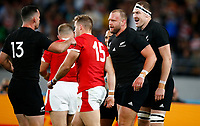 Joe Moody of New Zealand (All Blacks) after his try during the 2019 Rugby World Cup bronze final match between New Zealand All Blacks and Wales at the Tokyo Stadium at the Tokyo Stadium in Tokyo, Japan on Friday, 1 November 2019. Photo: Steve Haag / stevehaagsports.com
