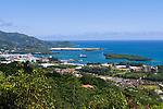Seychelles, Island Mahe, capital Victoria and port