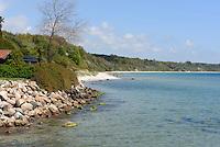 Strand von Arnager auf der Insel Bornholm, Dänemark, Europa<br /> beach at Arnager, Isle of Bornholm Denmark