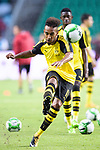 Borussia Dortmund Forward Pierre-Emerick Aubameyang Warming up during the International Champions Cup 2017 match between AC Milan vs Borussia Dortmund at University Town Sports Centre Stadium on July 18, 2017 in Guangzhou, China. Photo by Marcio Rodrigo Machado / Power Sport Images