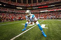 Photography of the Carolina Panthers v. the Atlanta Falcons at the Georgia Dome in Atlanta, GA.<br /> <br /> Charlotte Photographer - PatrickSchneiderPhoto.com