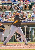 22 March 2015: Pittsburgh Pirates first baseman Pedro Alvarez in Spring Training action against the Houston Astros at Osceola County Stadium in Kissimmee, Florida. The Astros defeated the Pirates 14-2 in Grapefruit League play. Mandatory Credit: Ed Wolfstein Photo *** RAW (NEF) Image File Available ***
