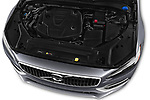 Car stock 2017 Volvo V90 Inscription 5 Door Wagon engine high angle detail view