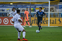 SAN JOSE, CA - SEPTEMBER 13: Oswaldo Alanis #4 of the San Jose Earthquakes dribbles the ball during a game between Los Angeles Galaxy and San Jose Earthquakes at Earthquakes Stadium on September 13, 2020 in San Jose, California.