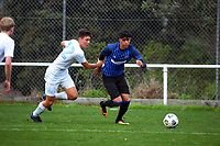 Harris Zeb in action during the Central League football match between Miramar Rangers and Wellington Olympic AFC at David Farrington Park in Wellington, New Zealand on Saturday, 29 May 2021. Photo: Dave Lintott / lintottphoto.co.nz