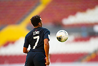GUADALAJARA, MEXICO - MARCH 28: Jonathan Lewis #7 of the United States traps the ball during a game between Honduras and USMNT U-23 at Estadio Jalisco on March 28, 2021 in Guadalajara, Mexico.