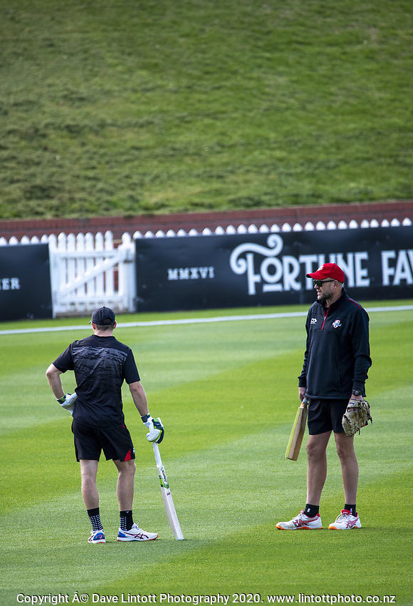 Canterbury coach Peter Fulton during day four of the Plunket Shield match between the Wellington Firebirds and Canterbury at Basin Reserve in Wellington, New Zealand on Thursday, 22 October 2020. Photo: Dave Lintott / lintottphoto.co.nz