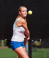 08-08-13, Netherlands, Rotterdam,  TV Victoria, Tennis, NJK 2013, National Junior Tennis Championships 2013, Marleen Habes<br /> <br /> <br /> Photo: Henk Koster