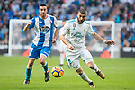 Real Madrid Karim Benzema and R.C. Deportivo Lucas Perez during La Liga match between Real Madrid and R. C. Deportivo at Santiago Bernabeu Stadium in Madrid, Spain. January 18, 2018. (ALTERPHOTOS/Borja B.Hojas)
