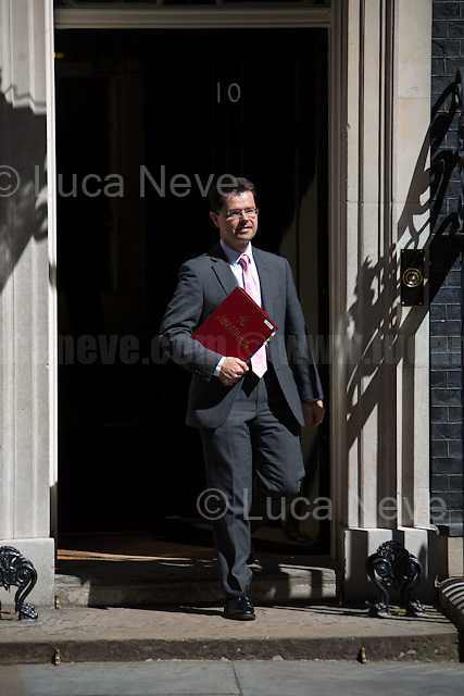 James Brokenshire MP (Secretary of State for Northern Ireland).<br /> <br /> London, 19/07/2016. First Cabinet meeting at 10 Downing Street (after the EU Referendum and consequent David Cameron's resignation) for the new Prime Minister Theresa May and her newly formed Conservative Government.<br /> <br /> For more information about the Cabinet Ministers: https://www.gov.uk/government/ministers