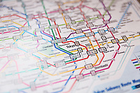 A colorful map of the Tokyo subway.