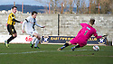 Ayr Utd's Michael Donald scores their fourth goal.