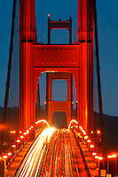 The Golden Gate Bridge in the early morning, San Francisco, California.