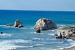 Birthplace of Aphrodite, Petra Tou Romiou, near Paphos, Cyprus, Zypern.