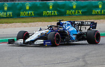 Williams Mercedes driver George Russell (63) of Team Great Britain in action during the Formula 1 Aramco United States Grand Prix practice session held at the Circuit of the Americas racetrack in Austin,Texas.