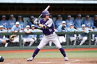 CHAPEL HILL, NC - FEBRUARY 19: Cole Singsank #16 of High Point University waits for a pitch during a game between High Point and North Carolina at Boshamer Stadium on February 19, 2020 in Chapel Hill, North Carolina.