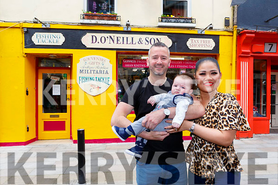 Denis O'Neill and Moolan and Jeremy O'Neill who will be the forth generation of O'Neill to live in Plunkett Street
