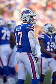 Buffalo Bills quarterback Josh Allen (17) during an NFL football game against the New York Jets, Sunday, December 9, 2018, in Orchard Park, N.Y.  (Mike Janes Photography)