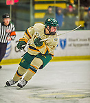 17 December 2013:  University of Vermont Catamount Forward Tom Forgione, a Freshman from South Burlington, VT, in second period action against the Northeastern University Huskies at Gutterson Fieldhouse in Burlington, Vermont. The Huskies shut out the Catamounts 3-0 to end UVM's 5 game winning streak. Mandatory Credit: Ed Wolfstein Photo *** RAW (NEF) Image File Available ***