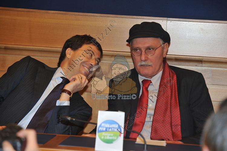 """ANTONIO PENNACCHI CON ITALO BOCCHINO<br /> PRESENTAZIONE LISTA """" ANTONIO PENNACCHI PER LATINA""""<br /> MONTECITORIO ROMA 2011"""