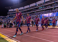 SAN PEDRO SULA, HONDURAS - SEPTEMBER 8: John Brooks #6 of the United States enters the field before a game between Honduras and USMNT at Estadio Olímpico Metropolitano on September 8, 2021 in San Pedro Sula, Honduras.