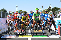5th September 2020, Grand Colombier, France;  COSNEFROY Benoit (FRA) of AG2R LA MONDIALE, YATES Adam (GBR) of MITCHELTON - SCOTT, SAGAN Peter (SVK) of BORA - HANSGROHE and BERNAL GOMEZ Egan Arley (COL) of TEAM INEOS during stage 8 of the 107th edition of the 2020 Tour de France cycling race, a stage of 140 kms with start in Cazeres-sur-Garonne and finish in Loudenvielle