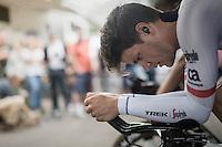 Jasper Stuyven (BEL/Trek-Segafredo) during the TTT warm-up<br /> <br /> 12th Eneco Tour 2016 (UCI World Tour)<br /> stage 5 (TTT) Sittard-Sittard (20.9km) / The Netherlands