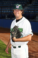 June 27th 2008:  Pitcher Bryan Evans of the Jamestown Jammers, Class-A affiliate of the Florida Marlins, during a game at Russell Diethrick Park in Jamestown, NY.  Photo by:  Mike Janes/Four Seam Images