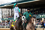 LEXINGTON, KY - APR 07: Warrior's Club (Luis Contreras) wins the G3 Commonwealth Stakes at Keeneland, Lexington KY. Owner Churchill Downs Racing Club (Gary Palmisano), trainer D. Wayne Lukas. By Warrior's Reward x Thirty Eighth St, by Citidancer (Photo by Mary M. Meek/Eclipse Sportswire/Getty Images)