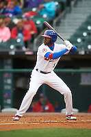 Buffalo Bisons left fielder Domonic Brown (9) at bat during a game against the Durham Bulls on June 13, 2016 at Coca-Cola Field in Buffalo, New York.  Durham defeated Buffalo 5-0.  (Mike Janes/Four Seam Images)