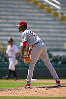 Palm Beach Cardinals pitcher Luis Ortiz (23) during a game against the Bradenton Marauders on May 30, 2021 at LECOM Park in Bradenton, Florida.  (Mike Janes/Four Seam Images)