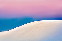 Sunset over dunes. White Sands National Monument. New Mexico