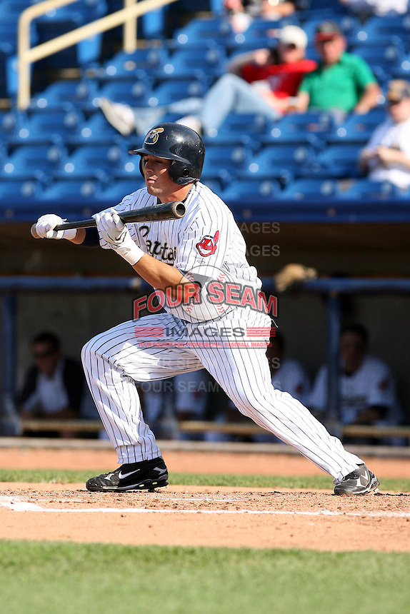 June 11th 2008:  Adam White of the Lake County Captains, Class-A affiliate of the Cleveland Indians, during a game at Classic Park in Eastlake,OH.  Photo by:  Mike Janes/Four Seam Images