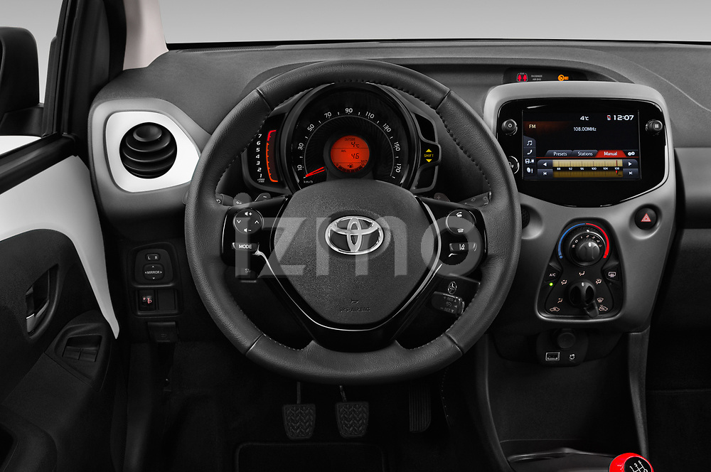 Car pictures of steering wheel view of a 2019 Toyota Aygo x-style 5 Door Hatchback