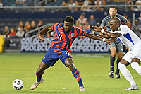 KANSAS CITY, KS - JULY 15: Daryl Dike #11 of the United States with the ball during a game between Martinique and USMNT at Children's Mercy Park on July 15, 2021 in Kansas City, Kansas.