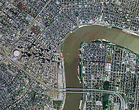 aerial photo map of of New Orleans, Louisiana, 2007