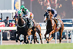 Silvestre de Sousa (L) riding Pakistan Star during the Audemars Piguet Queen Elizabeth II Cup at Sha Tin Racecourse on April 30, 2017 in Hong Kong, China. (Photo by Marcio Rodrigo Machado / Power Sport Images)