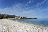 Avlaki beach in Corfu, Greece. Thursday 03 September 2020