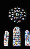 Chartres: Notre Dame--western rose window from within. Photo '87.