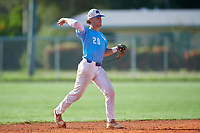 Austin Grause (20) during the WWBA World Championship at Terry Park on October 10, 2020 in Fort Myers, Florida.  Austin Grause, a resident of Tampa, Florida who attends Gaither High School, is committed to South Florida.  (Mike Janes/Four Seam Images)