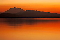 Sunset over lake of zug, Zug, Switzerland