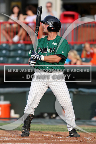Erie Seawolves Kody Kaiser during a game vs. the Trenton Thunder at Jerry Uht Park in Erie, Pennsylvania;  June 23, 2010.   Trenton defeated Erie 12-7  Photo By Mike Janes/Four Seam Images