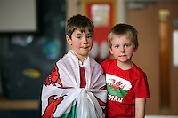 St David's Day at Mayals Primary School in Swansea, Wales, UK. Wednesday 01 March 2017